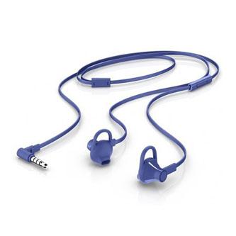 HP 150, sluchátka s mikrofonem, bez ovládání hlasitosti, modrá, 3.5 mm jack špuntová