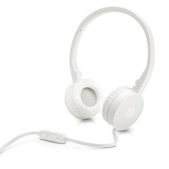 HP H2800, sluchátka s mikrofonem, ovládání hlasitosti, bílá, 3.5 mm jack klasická