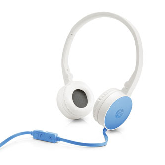 HP H2800, sluchátka s mikrofonem, ovládání hlasitosti, modrá, klasická typ 3.5 mm jack