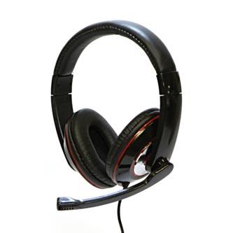 Logo Sluchátka HL-01, sluchátka s mikrofonem, ovládání hlasitosti, černá, USB