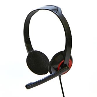 Logo Sluchátka HL-02, sluchátka s mikrofonem, ovládání hlasitosti, černá, 2x 3.5 mm jack