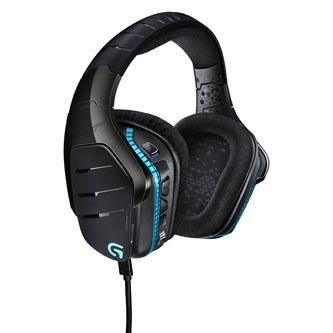 Logitech G633, herní sluchátka s mikrofonem, ovládání hlasitosti, černá, 7.1 surround (virtuálně), podsvícená, uzavřená, herní typ