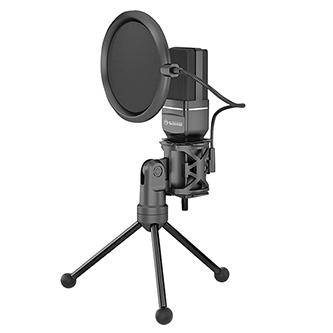 Marvo, streamovací mikrofon MIC-03, mikrofon, bez regulace hlasitosti, černý, s 270° otočným tripodem