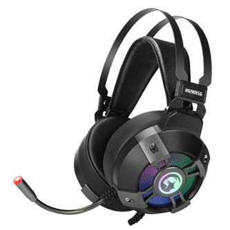 Marvo HG9015G, sluchátka s mikrofonem, ovládání hlasitosti, černá, USB