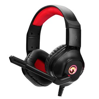 Marvo HG8929, sluchátka s mikrofonem, černá, podsvícená, 3.5 mm jack + rozdvojka + USB