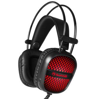 Marvo HG8941, sluchátka s mikrofonem, ovládání hlasitosti, černá, podsvícená, 2x 3.5 mm jack + USB