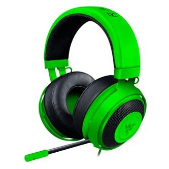 Razer, Kraken Pro V2 Green - Oval, sluchátka s mikrofonem, ovládání hlasitosti, zelená, 3.5 mm jack