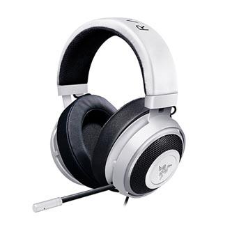 Razer, Kraken Pro V2 White - Oval, sluchátka s mikrofonem, ovládání hlasitosti, bílá, 3.5 mm jack