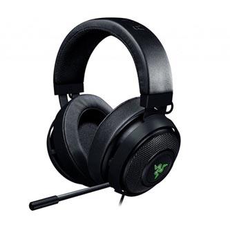 Razer, Kraken 7.1 V2 - Oval, sluchátka s mikrofonem, ovládání hlasitosti, černá, 3.5 mm jack