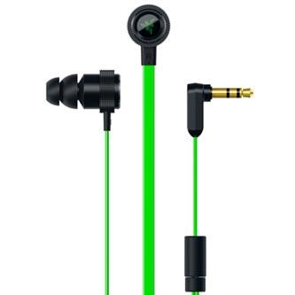 Razer Hammerhead V2, sluchátka, bez ovládání hlasitosti, zelená, 3.5 mm jack