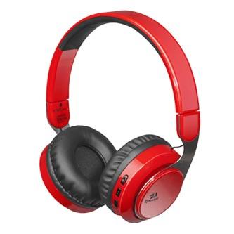 Redragon SKY R, herní sluchátka s mikrofonem, ovládání hlasitosti, červená, Bluetooth/3.5 mm jack