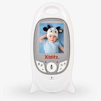 Xblitz Elektronická chůva s kamerou BABY MONITOR, 0,3 MPix, mini USB, bílá
