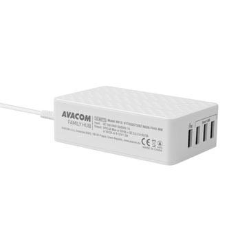 Hub nabíjecí 4-port, NASN-FH4X-WW, bílá, Avacom, rychlonabíjecí
