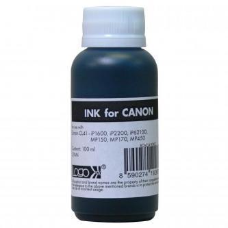 Logo samostatný inkoust pro CL41, cyan, 100 ml, pro Canon iP1600, iP2200, iP6210D, MP150, MP170, MP450