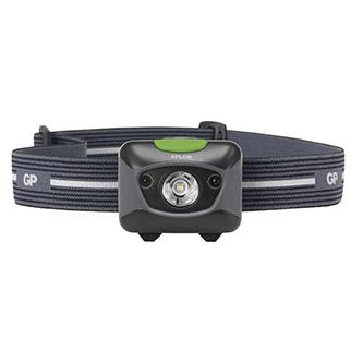 LED čelovka, 3xAAA, ABS plast, černá, 300lm, 157m, PHR15