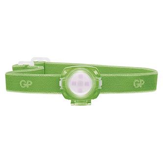 LED čelovka, 2xCR2025, plast, zelená, 40lm, 8m, CH31