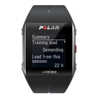 Chytré hodinky, Polar V800 HR, Windows / Mac OS, USB kabel, Sportovní, černé