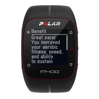 Chytré hodinky, Polar M400 HR, Windows / Mac OS, Bluetooth, Sportovní, černá