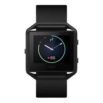 Chytré hodinky, Fitbit Gunmetal - L, Android / iOS / WindowsPhone, Bluetooth, Každodenní použití, černá