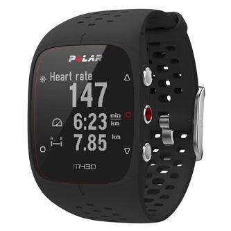 Chytré hodinky, Polar Polar M430, Windows / Mac OS, Sportovní, černé