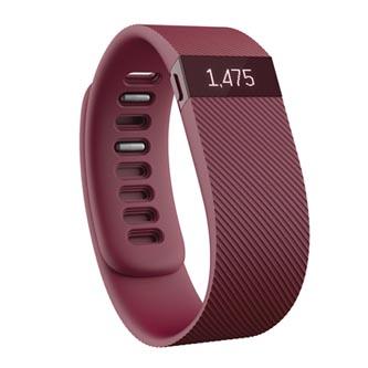 Chytrý náramek, Fitbit Charge, Android / iOS, Bluetooth, guma, Každodenní použití, červená