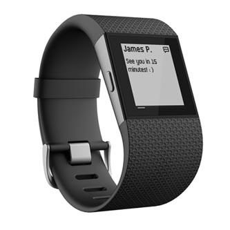 Chytrý náramek, Fitbit Surge, Android / iOS, Bluetooth, guma, Každodenní použití, černá