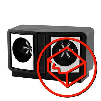 Elektronický odpuzovač hlodavců MR19 Napájení 230V/50Hz, spotřeba 2W, kmitočet 24-45kHz, až 230m2, černý, poškozený obal