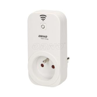 Bezdrátová zásuvka 230V 50/60Hz, dle dosahu WiFi, MAX.3680W, bílá, ORNO, IP20