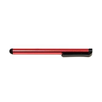 Dotykové pero, kapacitní, kov, červené, pro iPad a tablet