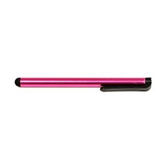 Dotykové pero, kapacitní, kov, tmavě růžové, pro iPad a tablet