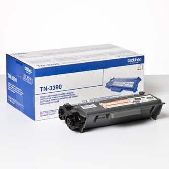 Brother originální toner TN3390, black, 12000str., Brother HL-6180, DCP-8250