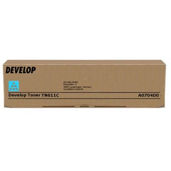 Develop originální toner A0704D0, cyan, 27000str., TN-611C, Develop Ineo +550, +650