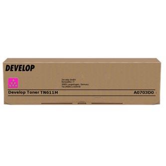 Develop originální toner A0703D0, magenta, 27000str., TN-611M, Develop Ineo +550, +650