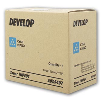 Develop originální toner A0X54D7, cyan, 5000str., TNP-50C, Develop Ineo +3100P, O