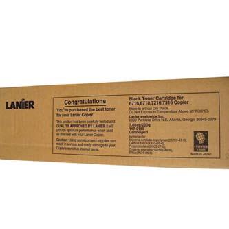 Lanier originální toner 117-0195, black, 6000str., Lanier T-6716, 6718, 7216, 7316, 200g