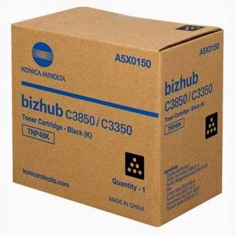 Konica Minolta originální toner A5X0150, black, 10000str., TNP48K, Konica Minolta Bizhub C3350, C3850