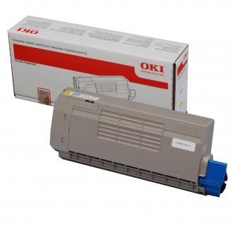 OKI originální toner 44318605, yellow, 11500str., OKI C710, C711