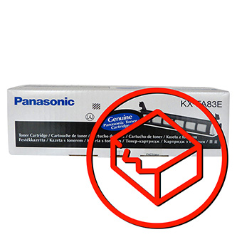 Panasonic originální toner KX-FA83E, black, 2500str., poškozený obal typ B, Panasonic KX-FL513EX, KX-FL613EX, O