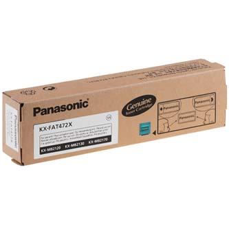 Panasonic originální toner KX-FAT472X, black, 2000str., Panasonic KX-MB2120, KX-MB2130, KX-MB2170, O