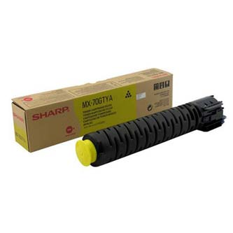 Sharp originální toner MX-70GTYA, yellow, 32000str., Sharp MX-5500N, 6200N, 7000N