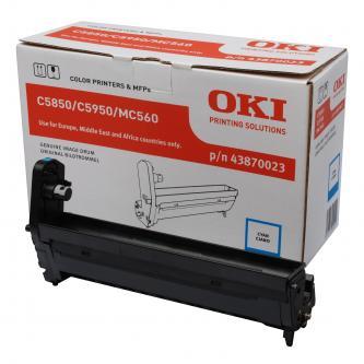 OKI originální válec 43870023, cyan, 20000str., OKI C5850, 5950, MC560, MC560n, MC560dn