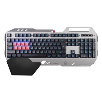 A4Tech klávesnice B2418, herní, šedá, drátová (USB), CZ, podpěra pod ruku