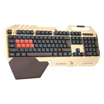 A4Tech B418, klávesnice CZ, herní, podsvícená typ drátová (USB), zlatá
