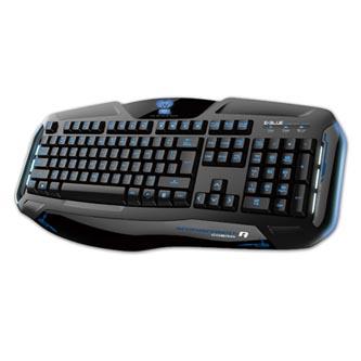 E-BLUE Cobra II, Klávesnice US, herní, podsvícená typ drátová (USB), černá