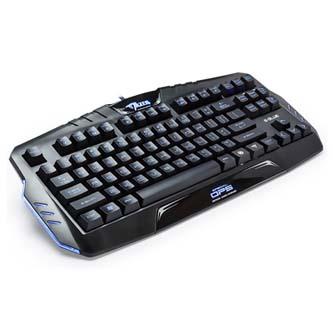 E-BLUE Klávesnice Mazer special OPS, herní, černá, drátová (USB), US, mechanická, podsvícená