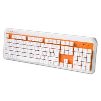 E-BLUE Klávesnice K738, multimediální, oranžová, drátová (USB), US