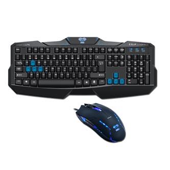E-BLUE Cobra EKM746, Sada klávesnice s myší Cobra II, CZ/SK, herní, drátová (USB), černá