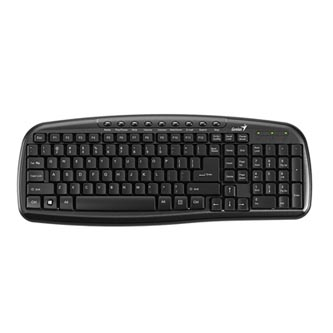 Genius Genius KB-M225C, Klávesnice CZ/SK, multimediální, drátová (USB), černá