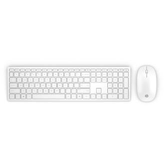 HP Pavilion Wireless Keyboard and Mouse 800 (White), Sada klávesnice SK, 2.4 [GHz], bezdrátová, bílá