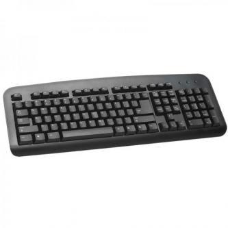 LOGO Klávesnice Standard, klasická, černá, drátová (USB), DE